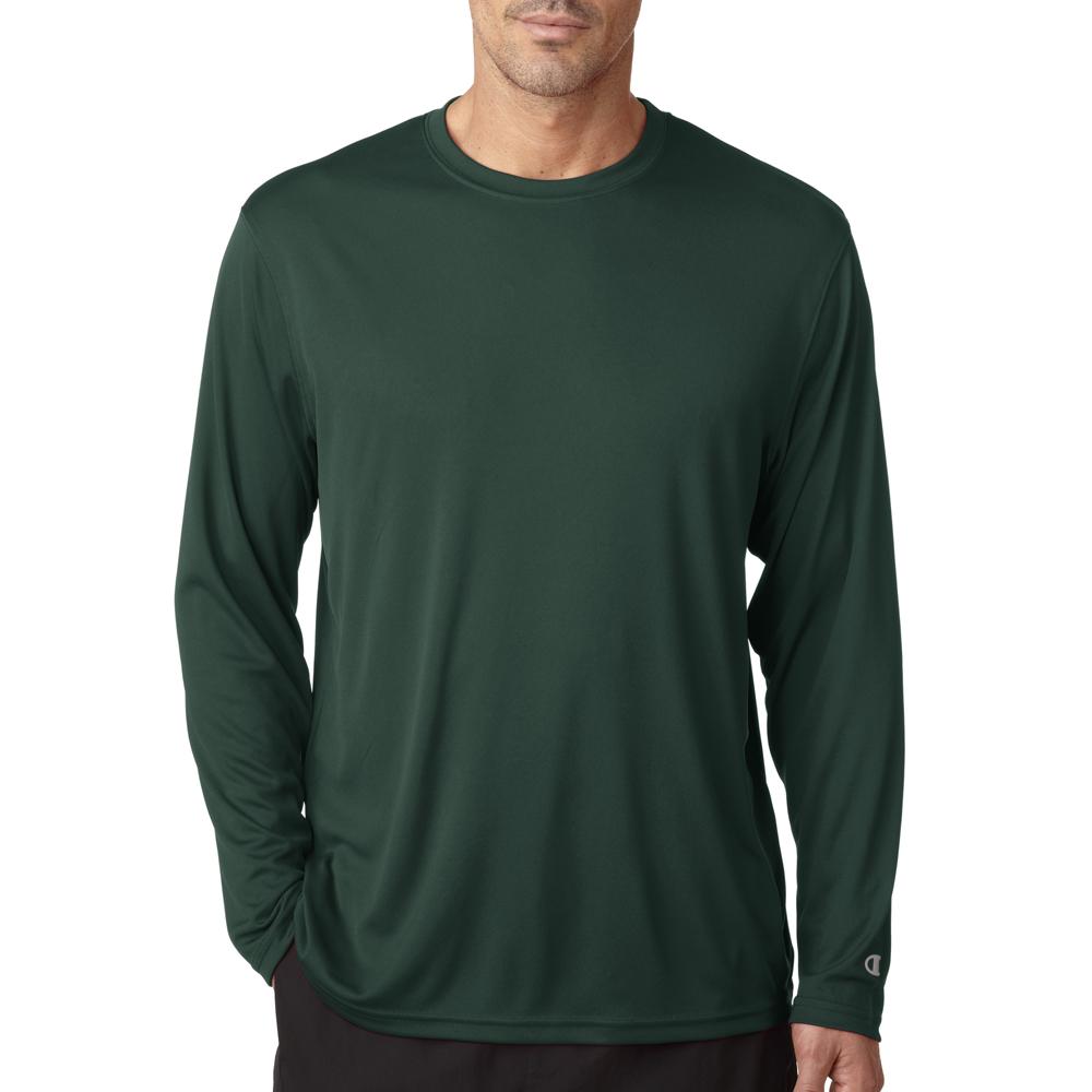 Custom printed champion men 39 s long sleeve t shirts cw26 for Custom printed long sleeve t shirts