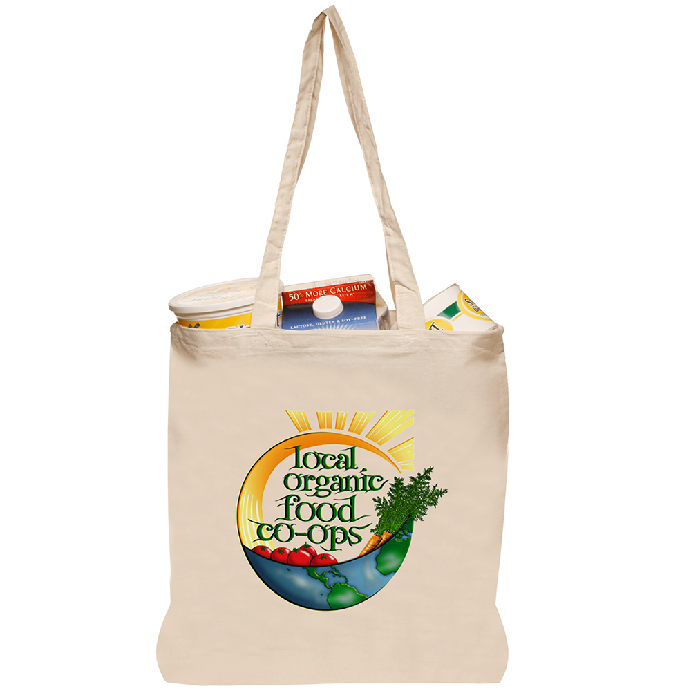 Personalized Natural Cotton Fiber Tote Bags | TOT28 - DiscountMugs