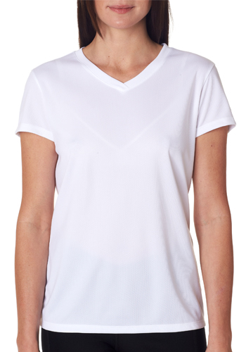 Wholesale custom printed new balance ladies 39 v neck t for Best white t shirt women s v neck