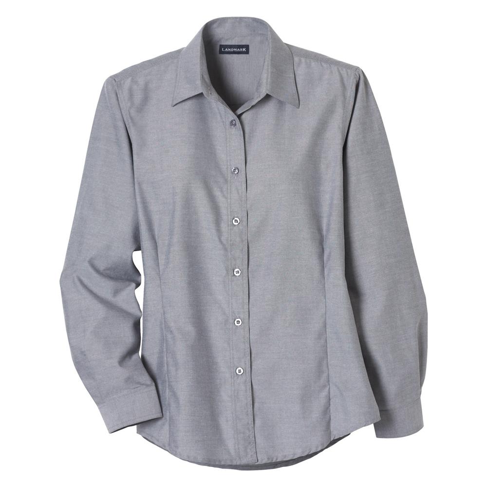 Embroidered Womens Long Sleeve Dress Shirts Letm97731 Discountmugs