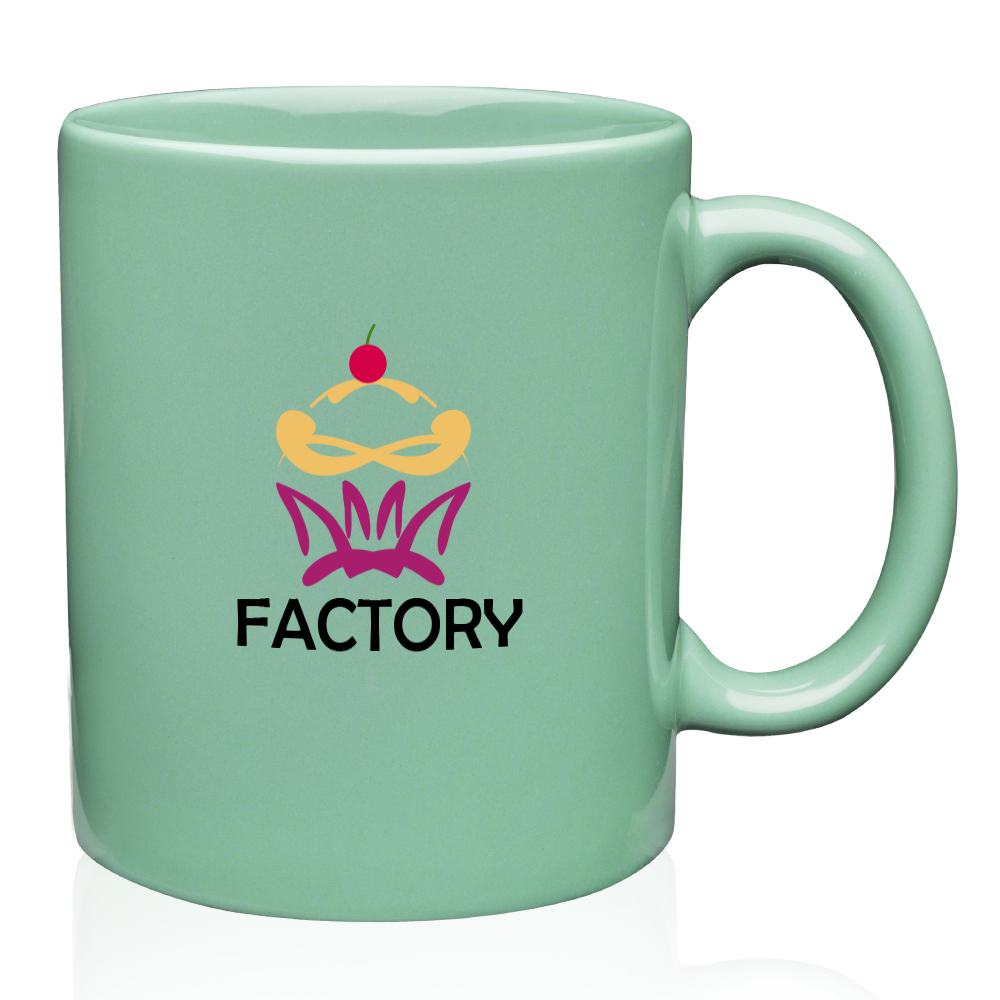Cheap Custom 11 oz Traditional Ceramic Coffee Mugs 17 Colors