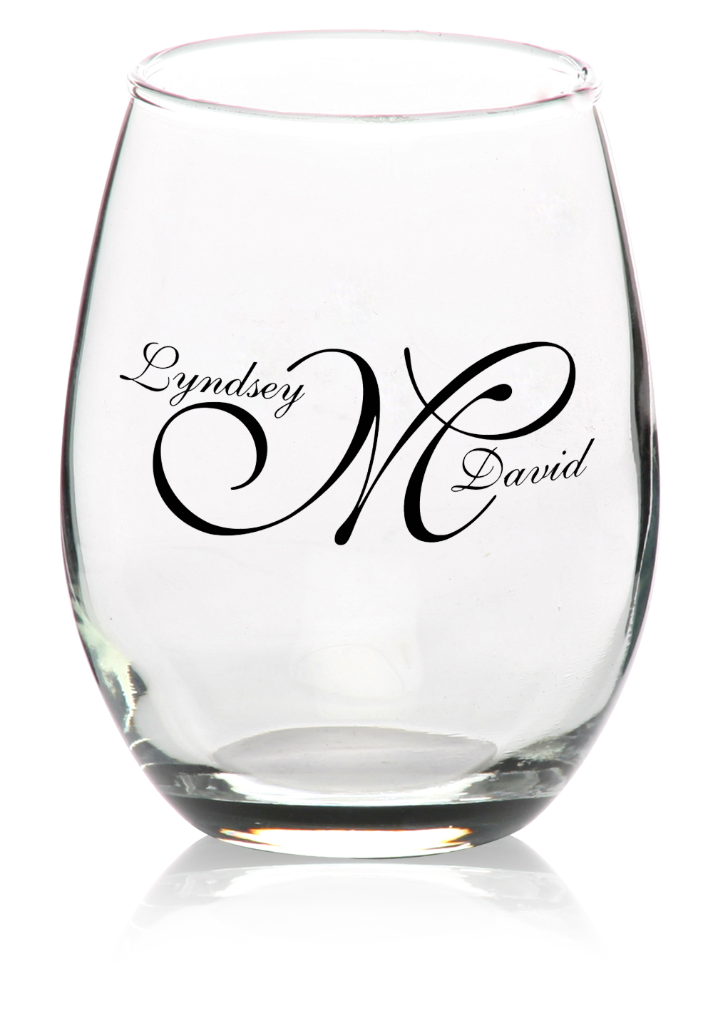 Custom Stemless Wine GlassesPersonalized Wine Glasses