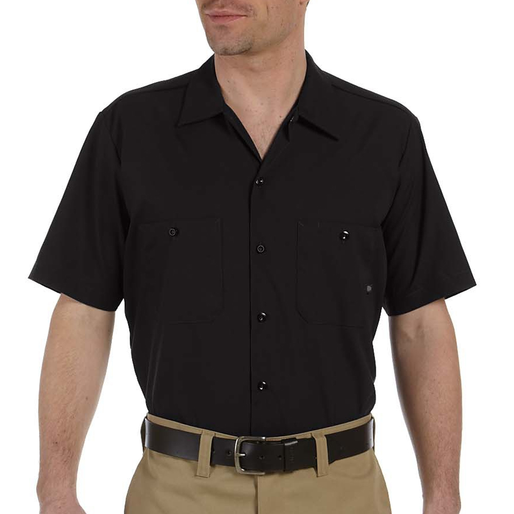 25ac437f Embroidered Dickies Mens Short Sleeve Work Shirts | LS535 - DisocuntMugs
