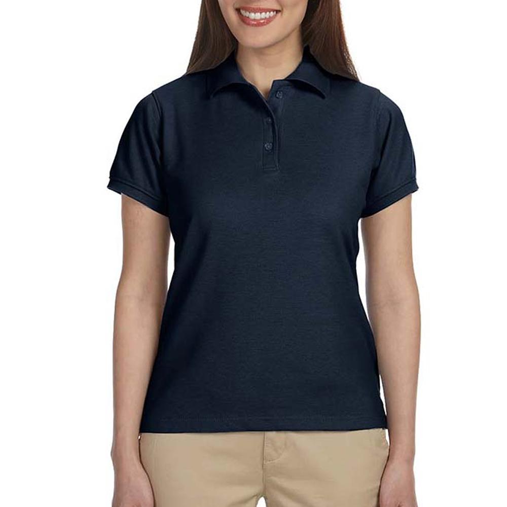 784c5466e08e Ladies Navy Blue Polo Shirts - DREAMWORKS