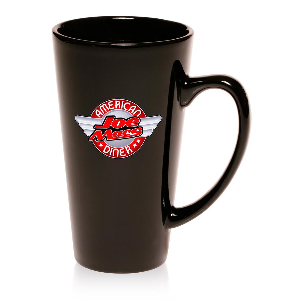 16 Oz Tall Cafe Style Coffee Mugs 9613