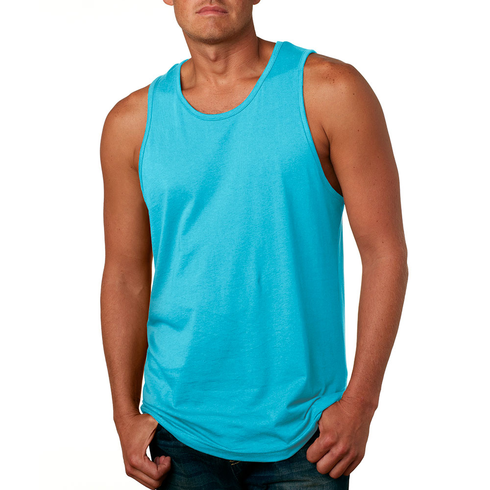 2cca1933bd887d Printed Next Level Mens Jersey Tank Tops