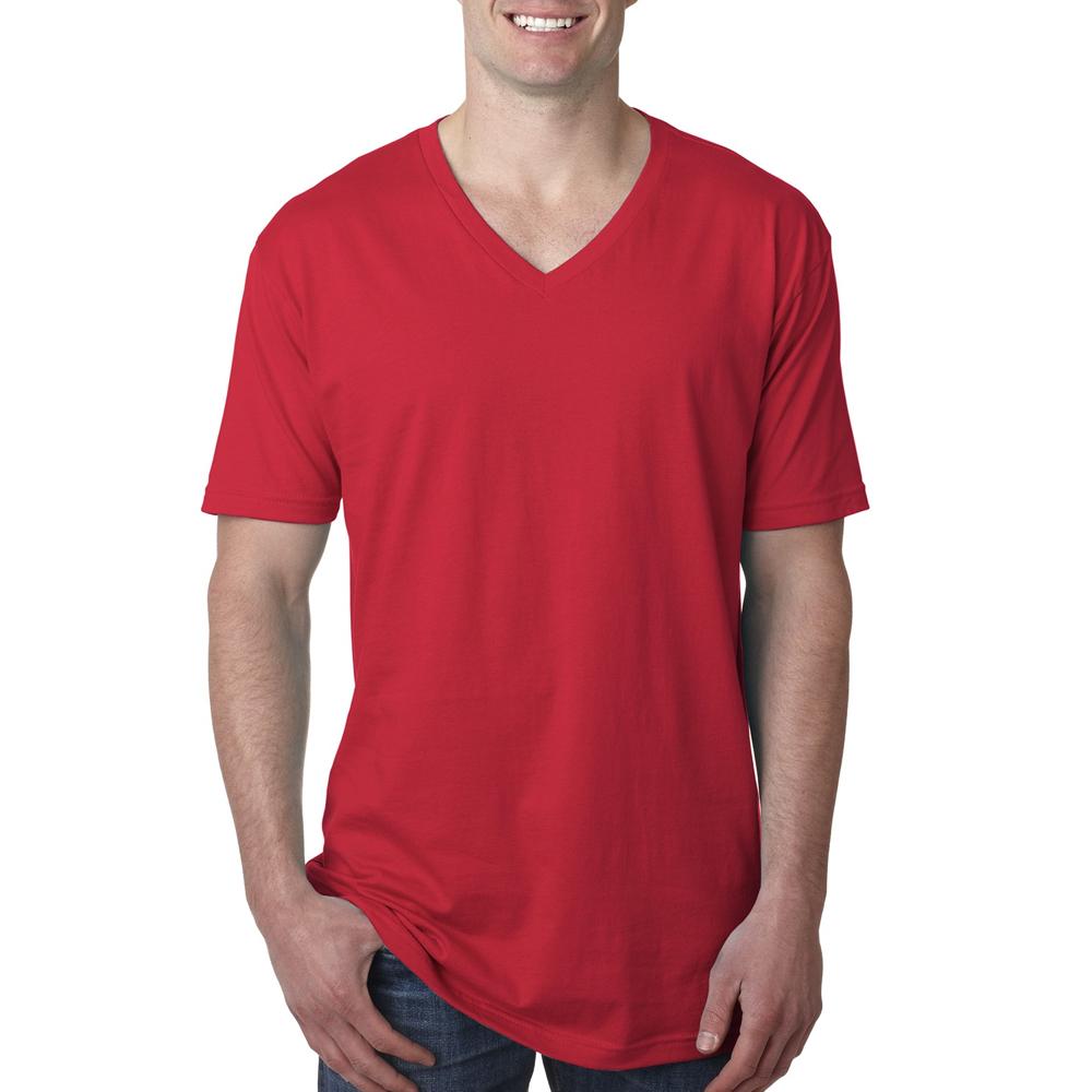 6c2dd54b2 Printed Next Level Men's Short Sleeve V Neck Tees | NL3200 - DiscountMugs