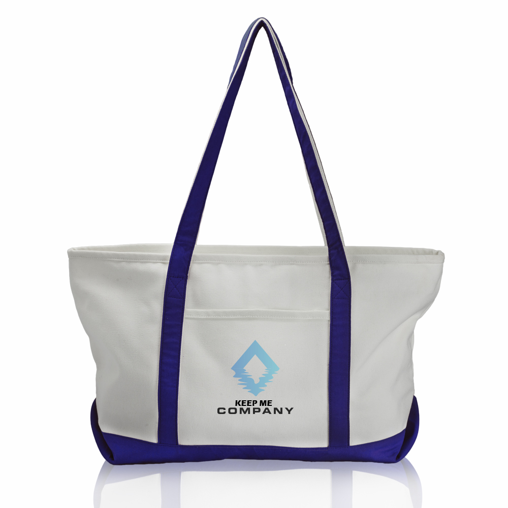 Personalized Pocket Large Canvas Tote Bags Tot227 Discountmugs