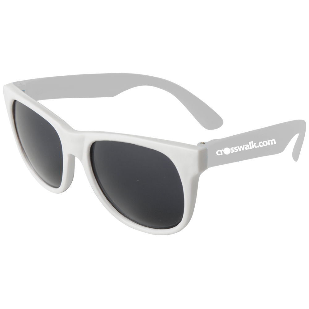 Custom White-Framed Neon Sunglasses | EM900W - DiscountMugs