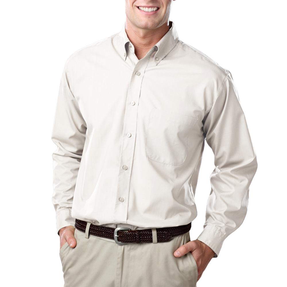 Custom Blue Generation Long Sleeve Poplin Dress Shirts Bgen7210
