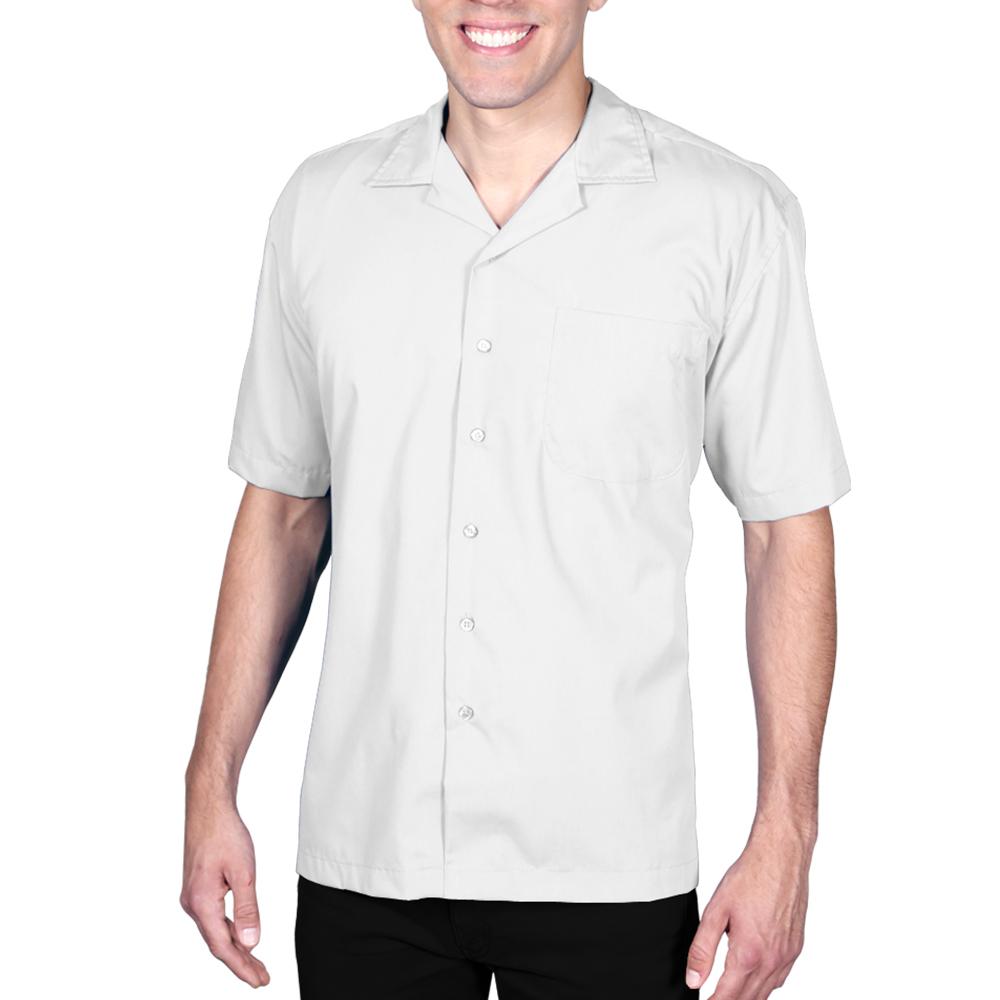 Embroidered Blue Generation Mens Poplin Camp Shirts Bgen3100