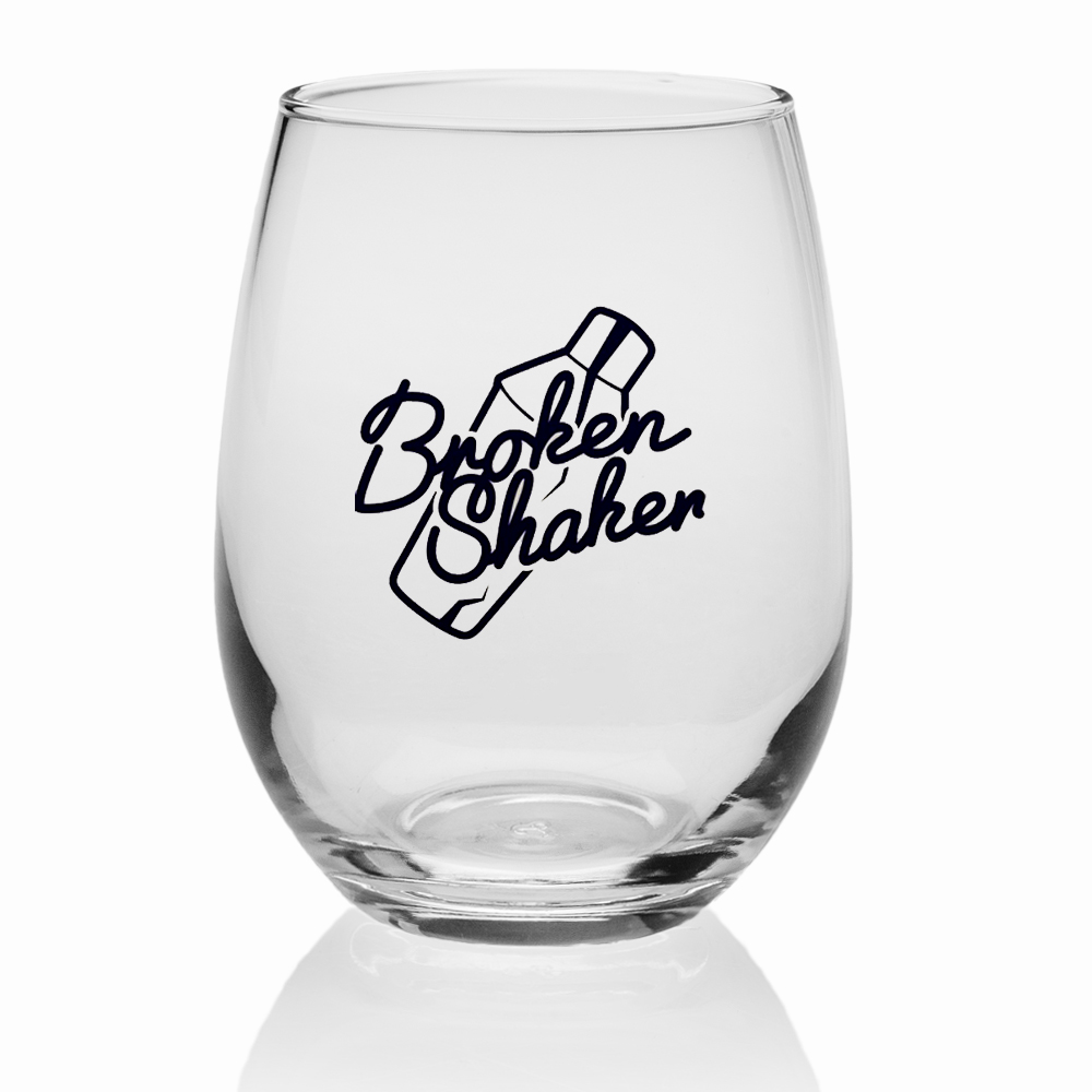 Personalized 9 oz. Libbey Stemless Wine Glasses   207 - DiscountMugs