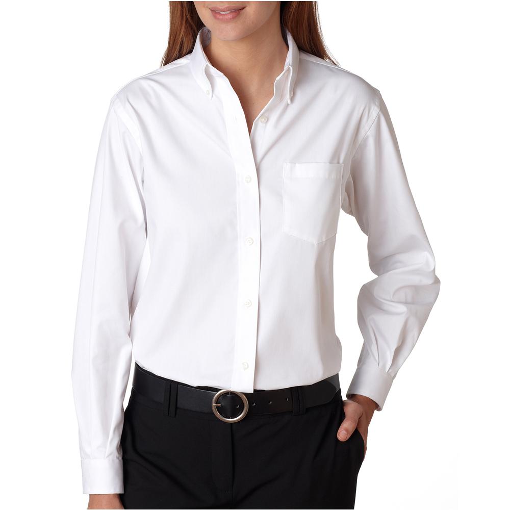 Custom Van Heusen Womens Long Sleeve Dress Shirts V0110