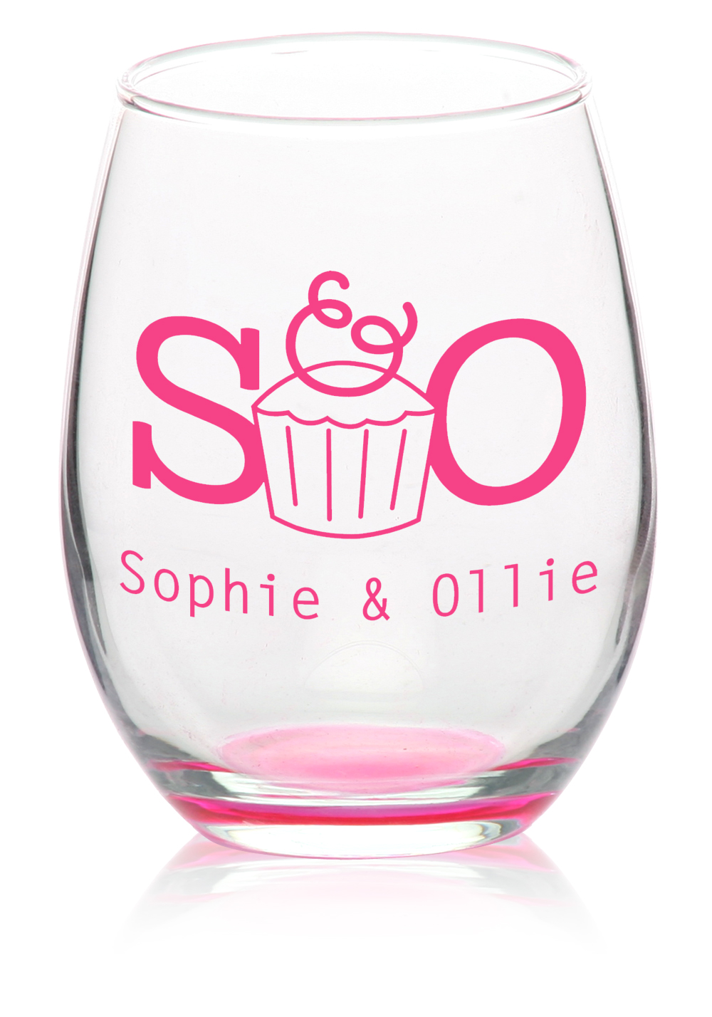 Personalized 9 oz. ARC Stemless Wine Glasses | C8832 - DiscountMugs