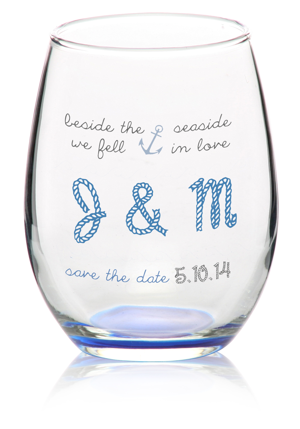 Personalised Wine Glasses Wedding Favors ~ Lading for .