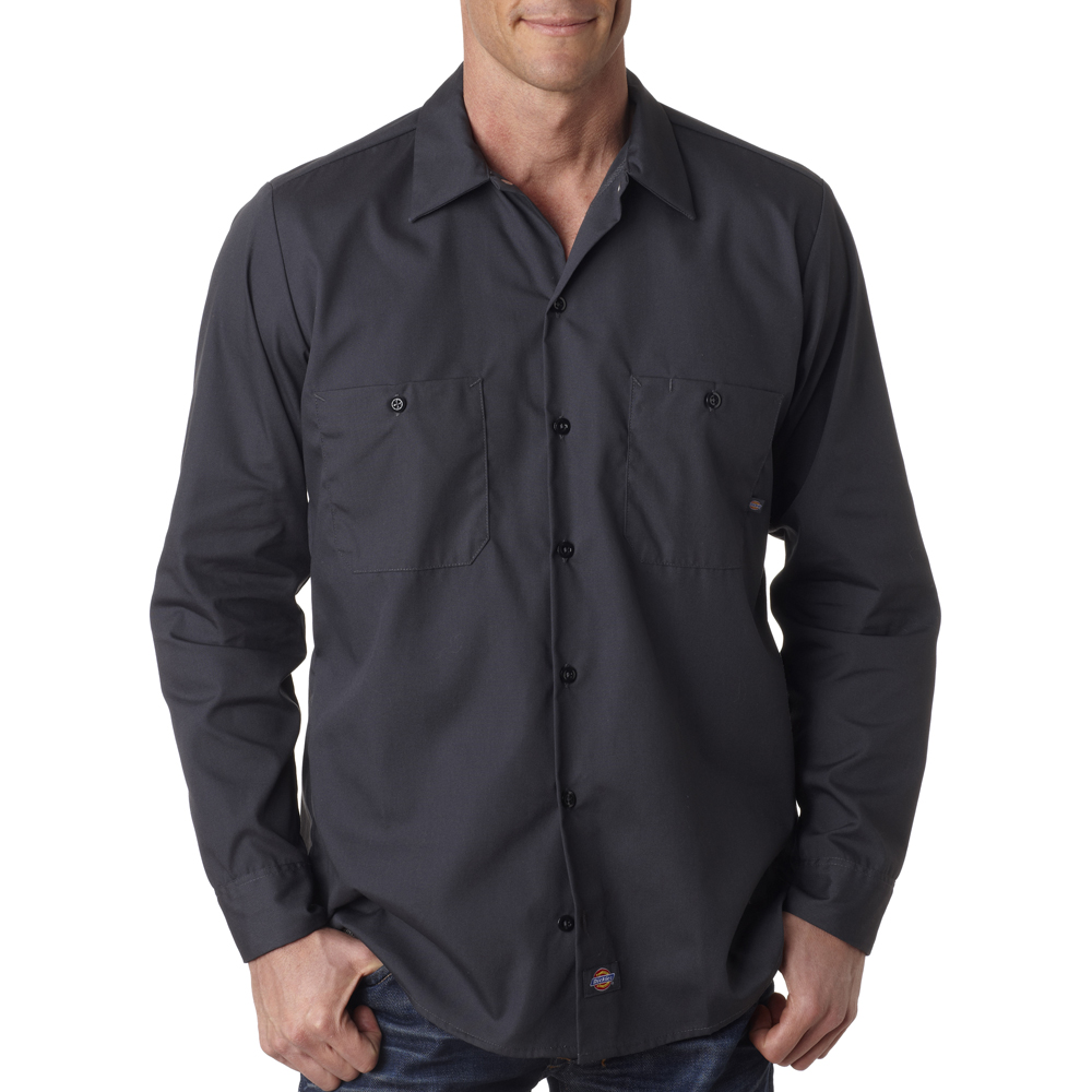 Cheap Bulk Dickies Men's Long-Sleeve Work Shirts LL535: www.discountmugs.com/product/ll535-cheap-bulk-dickies-mens-long...