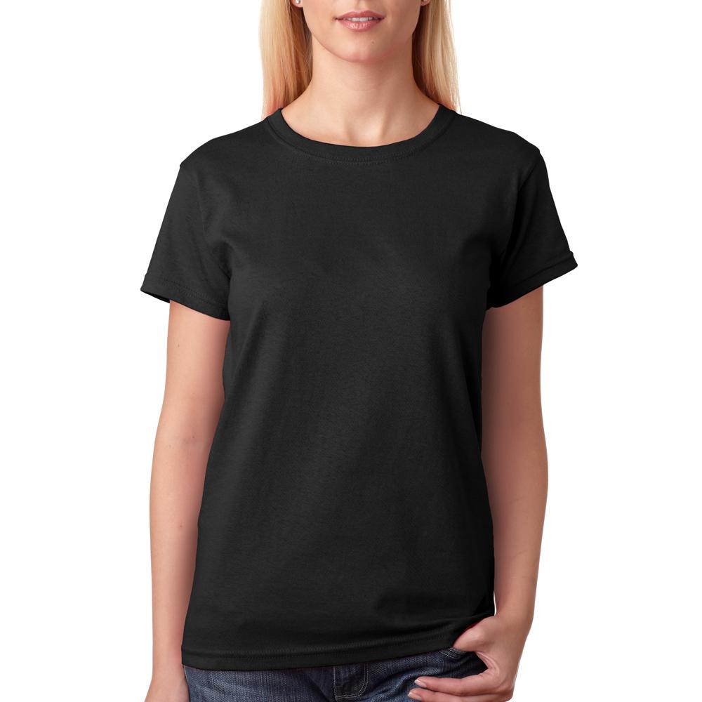 ladies black t shirt - photo #23