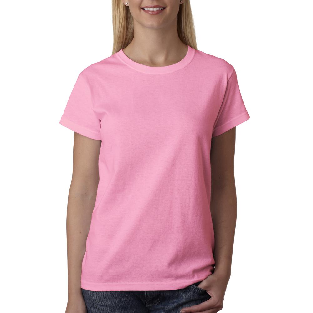 Wholesale custom logo screen printed bulk personalized for Pink ladies tee shirts