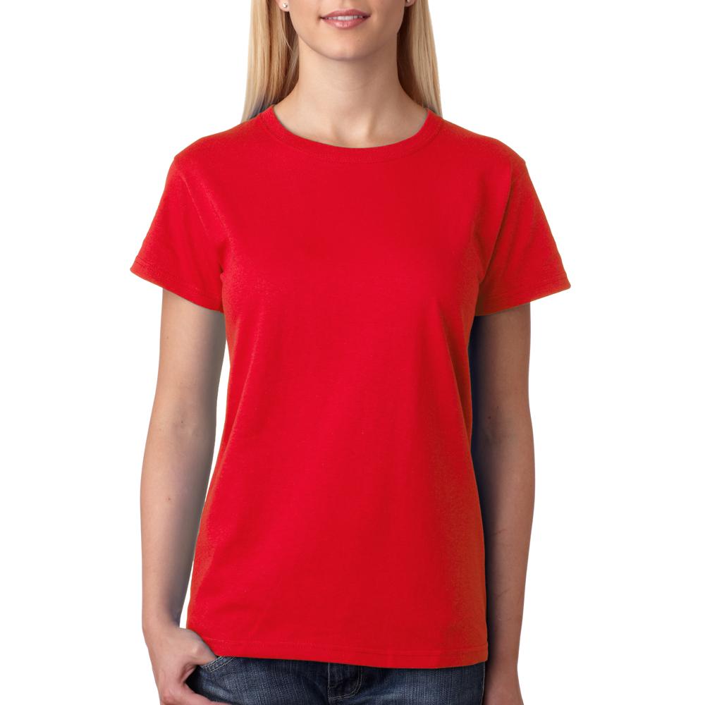 Design your own t-shirt hot pink - Wholesale Custom Logo Screen Printed Bulk Personalized Anvil