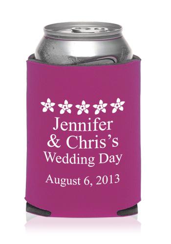 Personalized Wedding Koozies Discount Wedding Favors Koozies