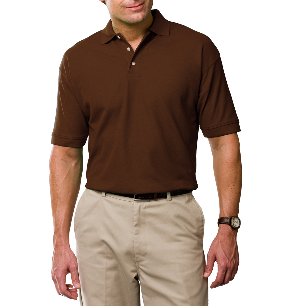 brown polo shirt mens