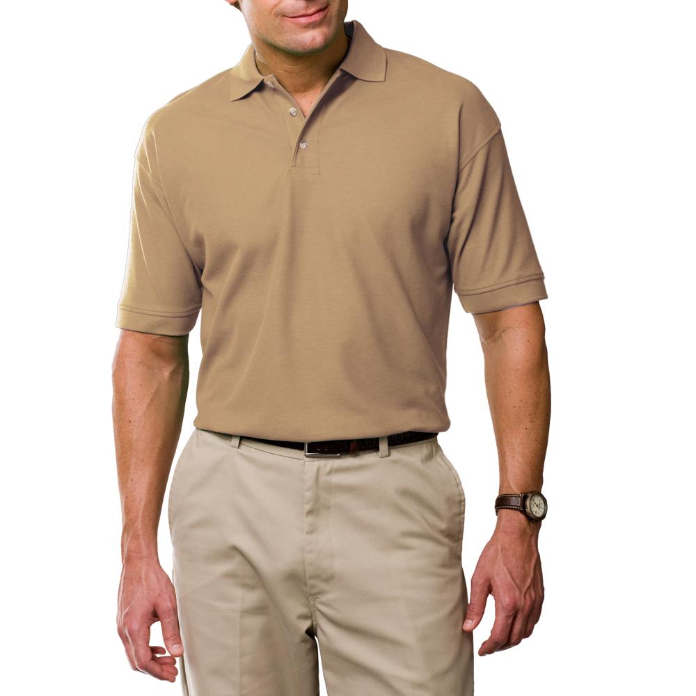 Promotional egyptian ringspun cotton polo shirts blue for Light brown polo shirt