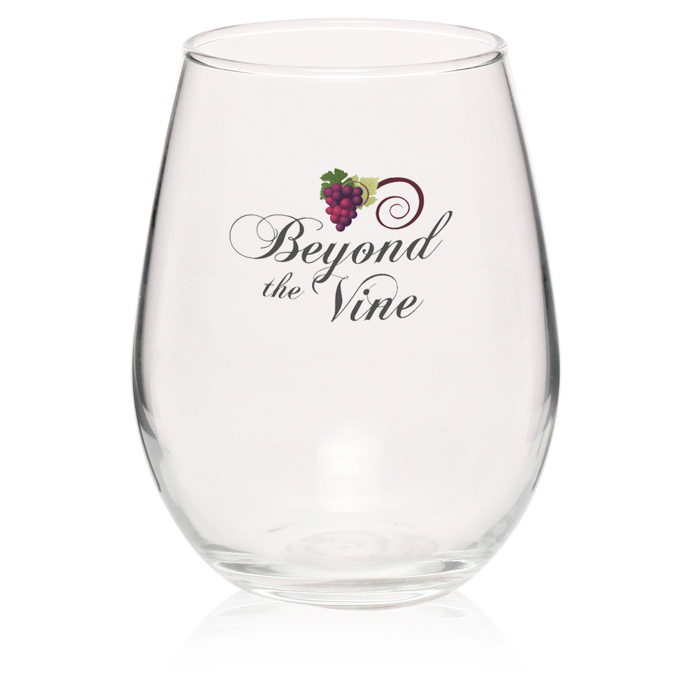 Personalized 11.75 oz. Stemless Wine Tasting Glasses   217 ...