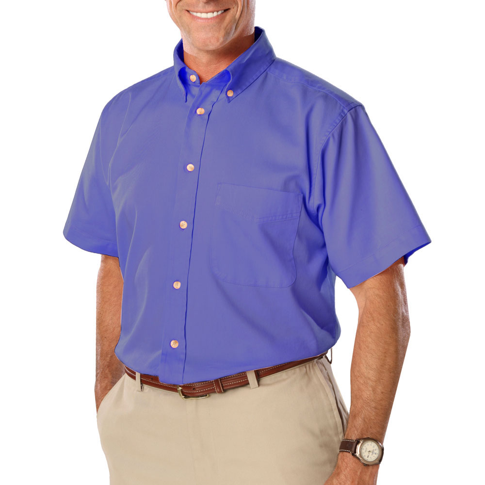 Custom Mens Short Sleeve Signature Twill Dress Shirts Bgen8213s