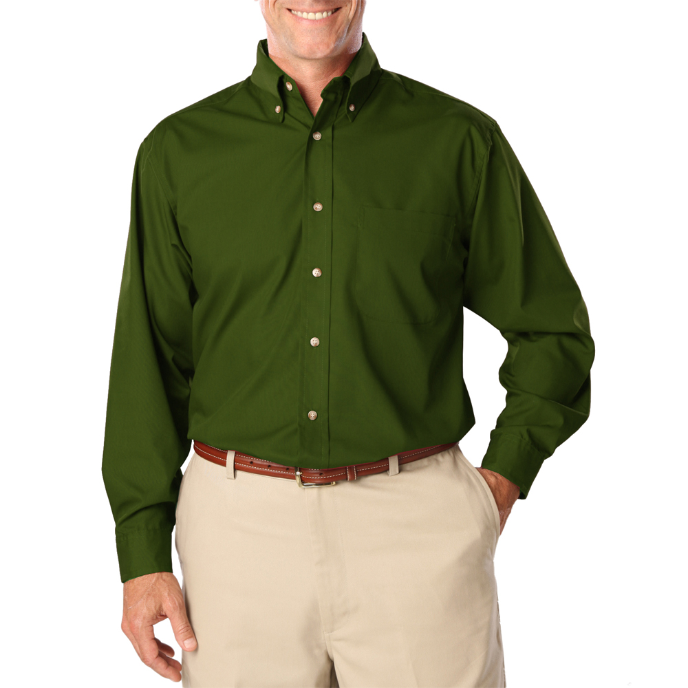 Khaki Green Dress Shirt Mens