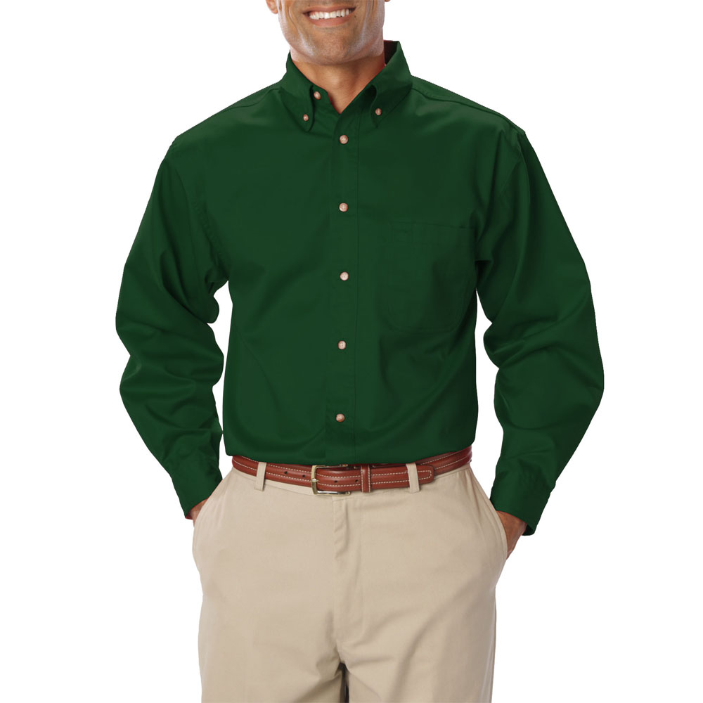 Embroidered Mens Long Sleeve Twill Dress Shirts | BGEN7217 ...