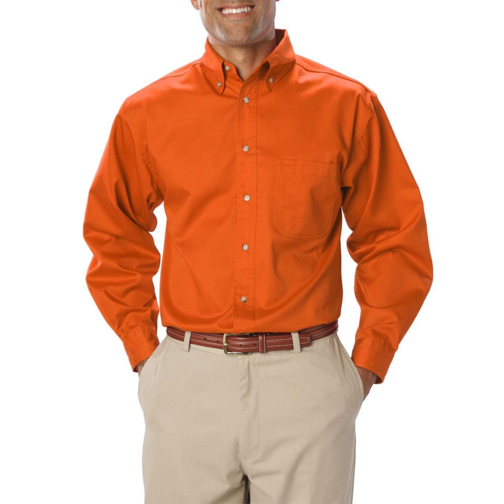 Embroidered Mens Long Sleeve Twill Dress Shirts | BGEN7217 - DiscountMugs
