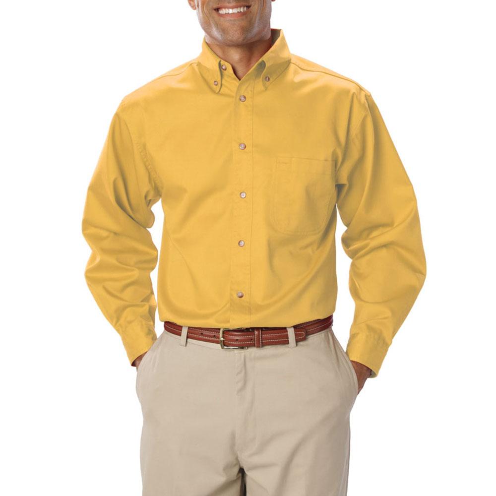 Embroidered Mens Long Sleeve Twill Dress Shirts Bgen7217
