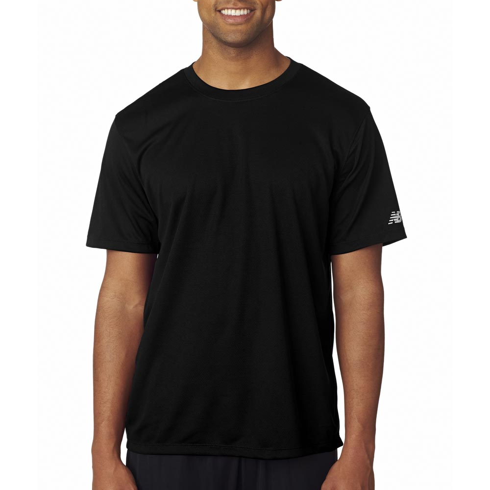 Black t shirt for mens - New Balance Polo Shirt Mens Sport T Shirts For