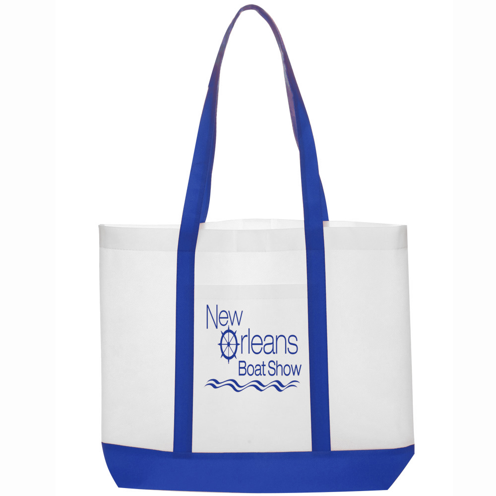 Personalized 18W x 14h inch Trim Color Non-Woven Tote Bags | TOT88 ...