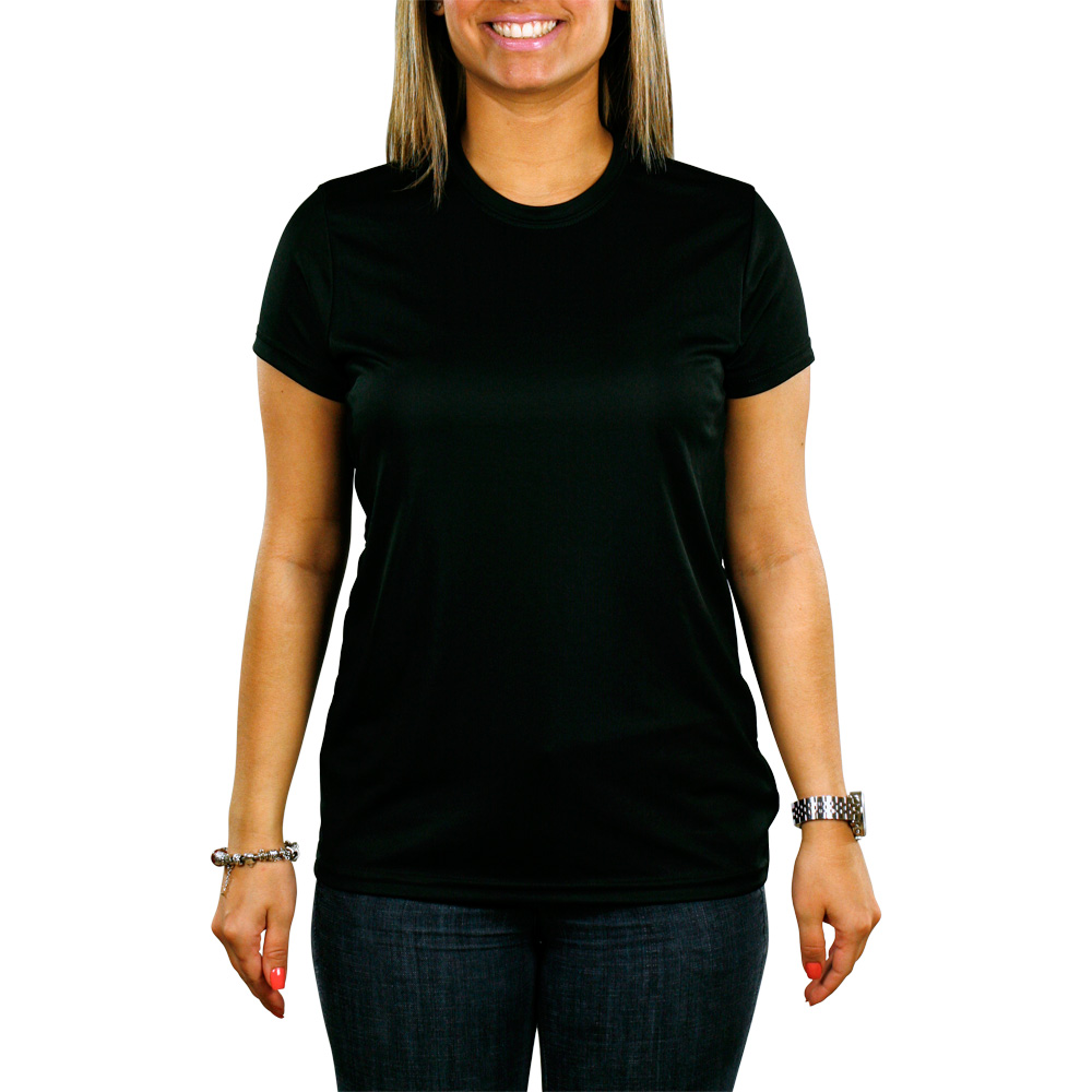 Plain Black Womens T Shirt